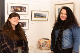 Jessica Phippen and Amanda Agustin at T.Arts Gallery Bathurst. Photo: Carolyn Hide.