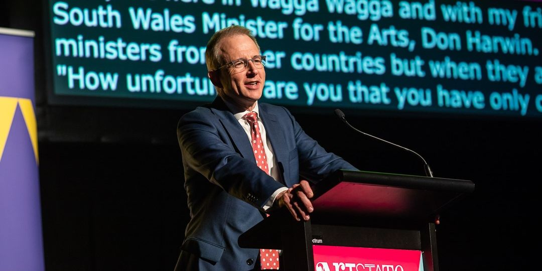 Federal Minister for Communications, Cyber Safety and the Arts The Hon. Paul Fletcher MP announced RAF Renewal funding recipients at Arstate Wagga_Image by Jackie Cooper (Demo)