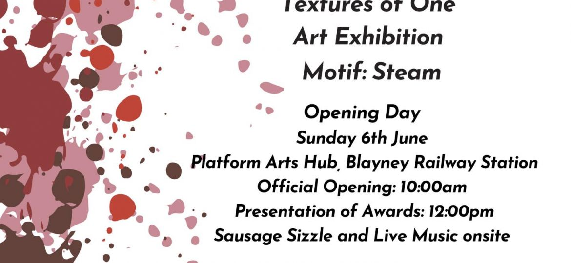 Poster for Textures of One Youth exhibtion