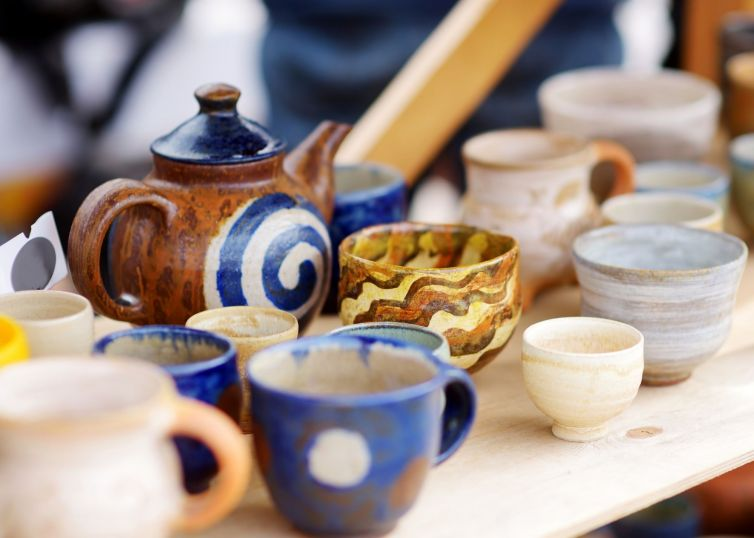 Stock image of ceramics on a table credit Canva