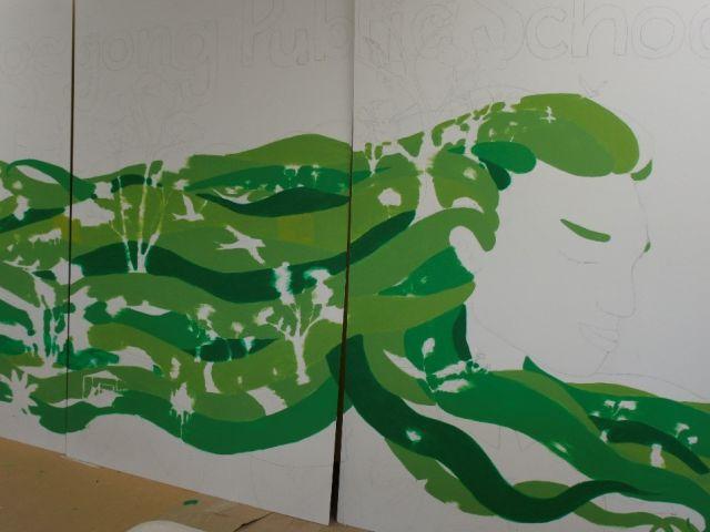 mural in progress